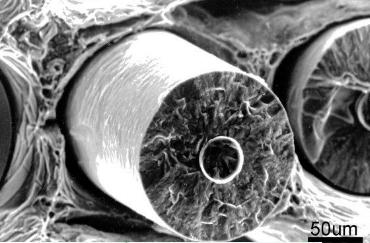 Carbon fibre composite materials sem
